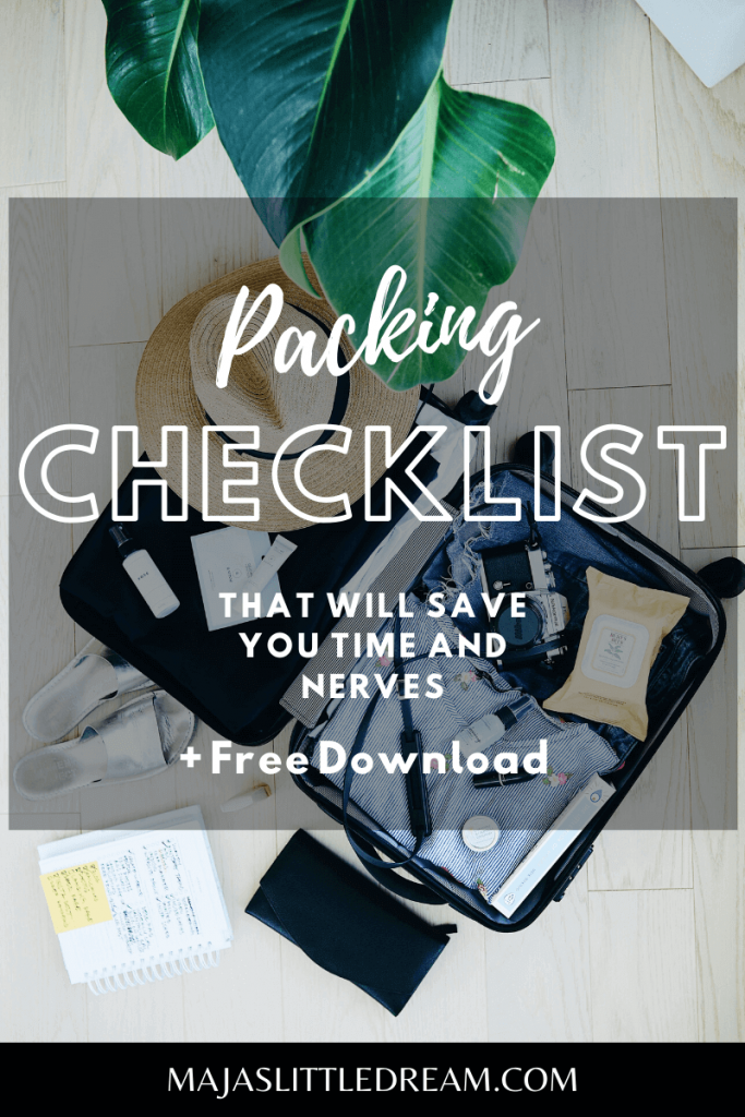 Packing Checklist That Will Save You Time and Nerves