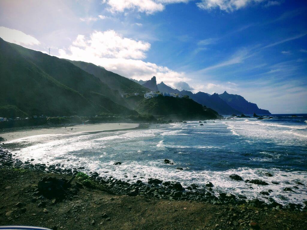 Black sanded beach in Tenerife