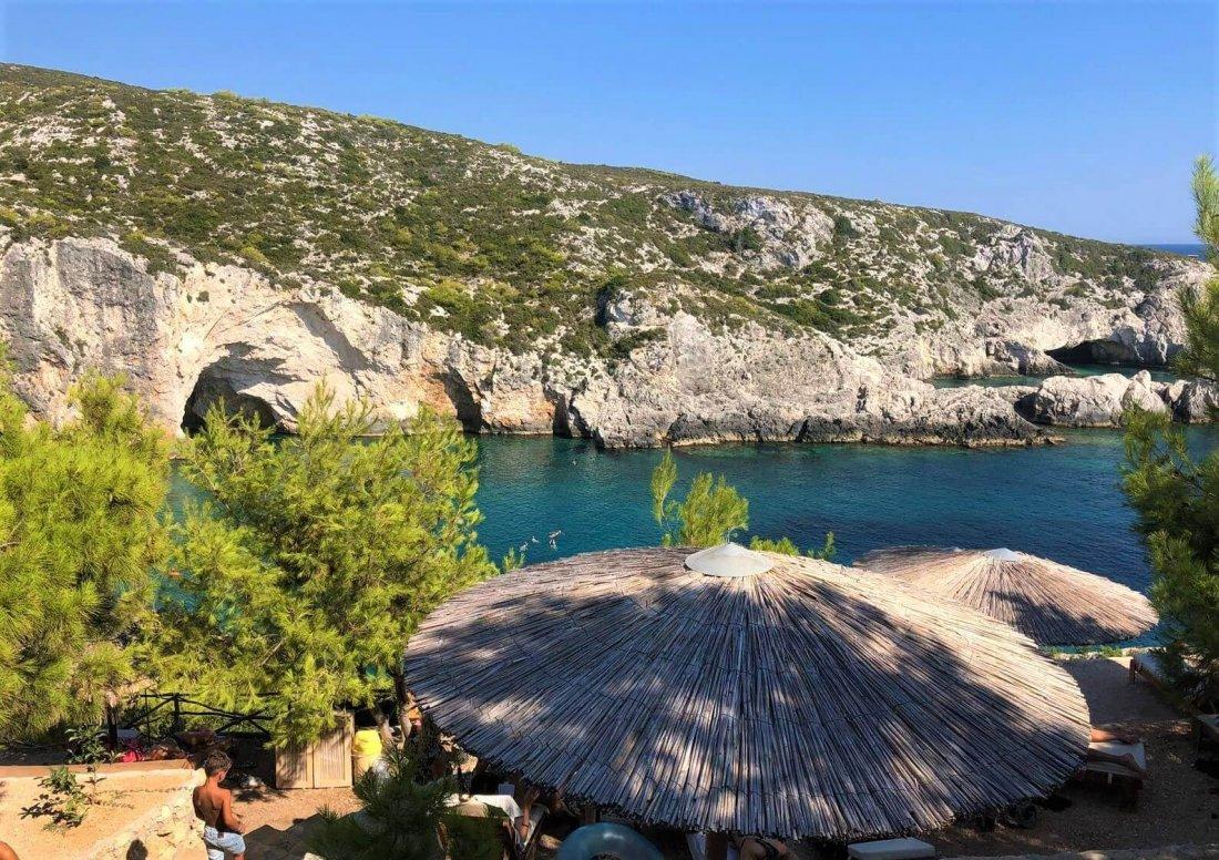 Limnionas beach - natural pool in Zakynthos