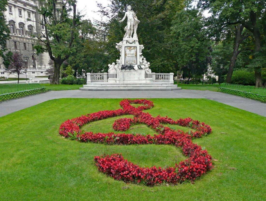 Mozart monument in Vienna