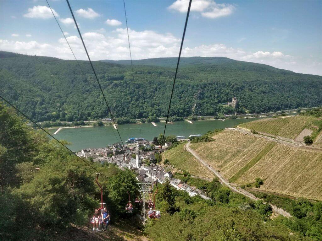 Chairlift, Rudesheim am Main, Rhine Valley