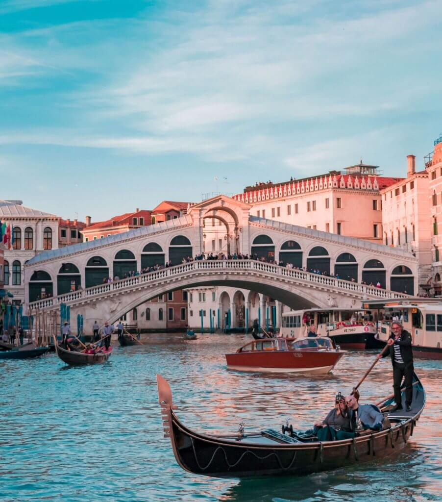 Venetian gondola, Italy - a must-see on European Bucket list