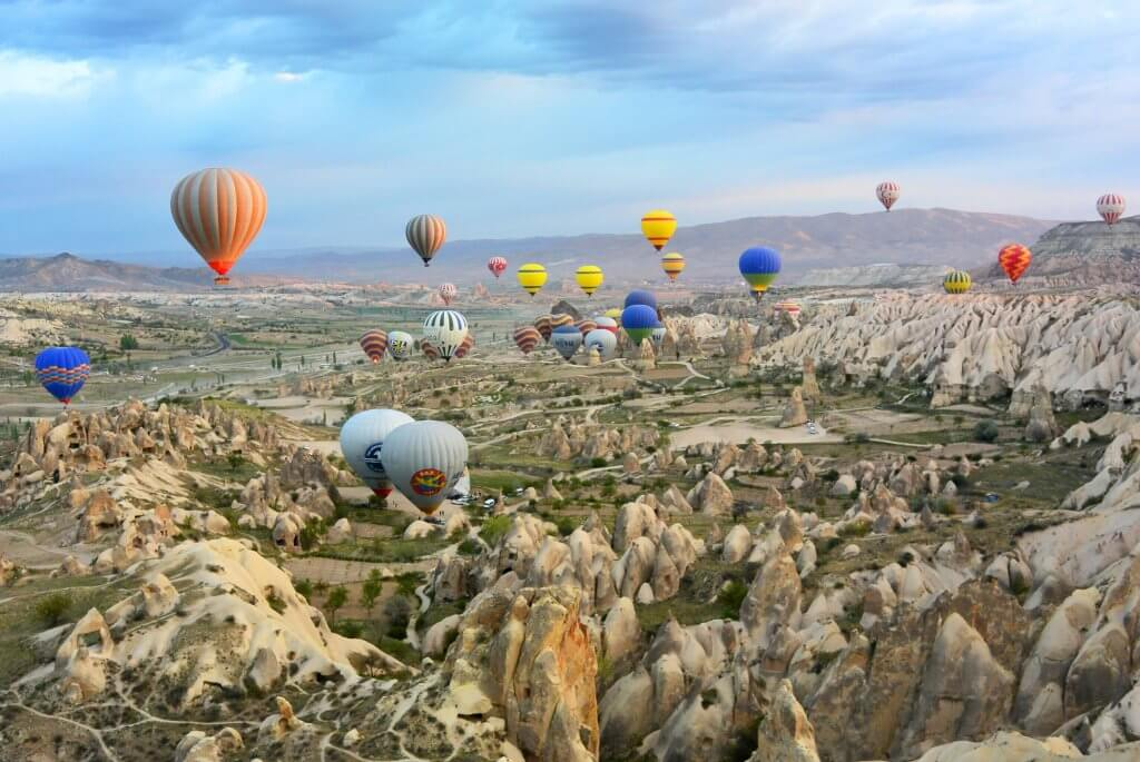 Air balloons in Cappadocia, Turkey - a must-see on European bucket list