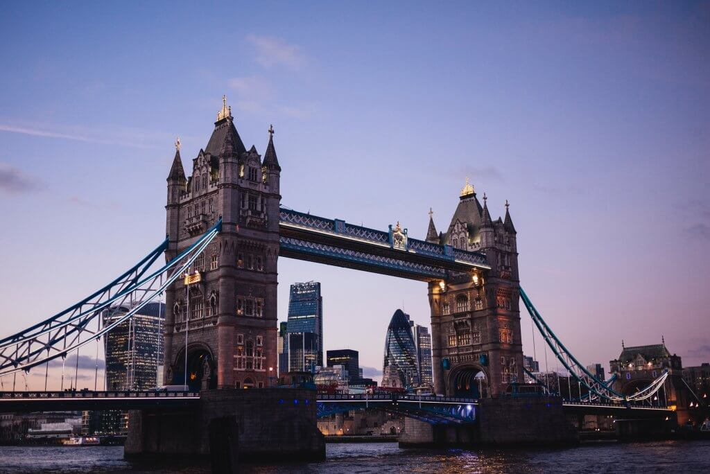 Tower Bridge in London - a must-see on European bucket list