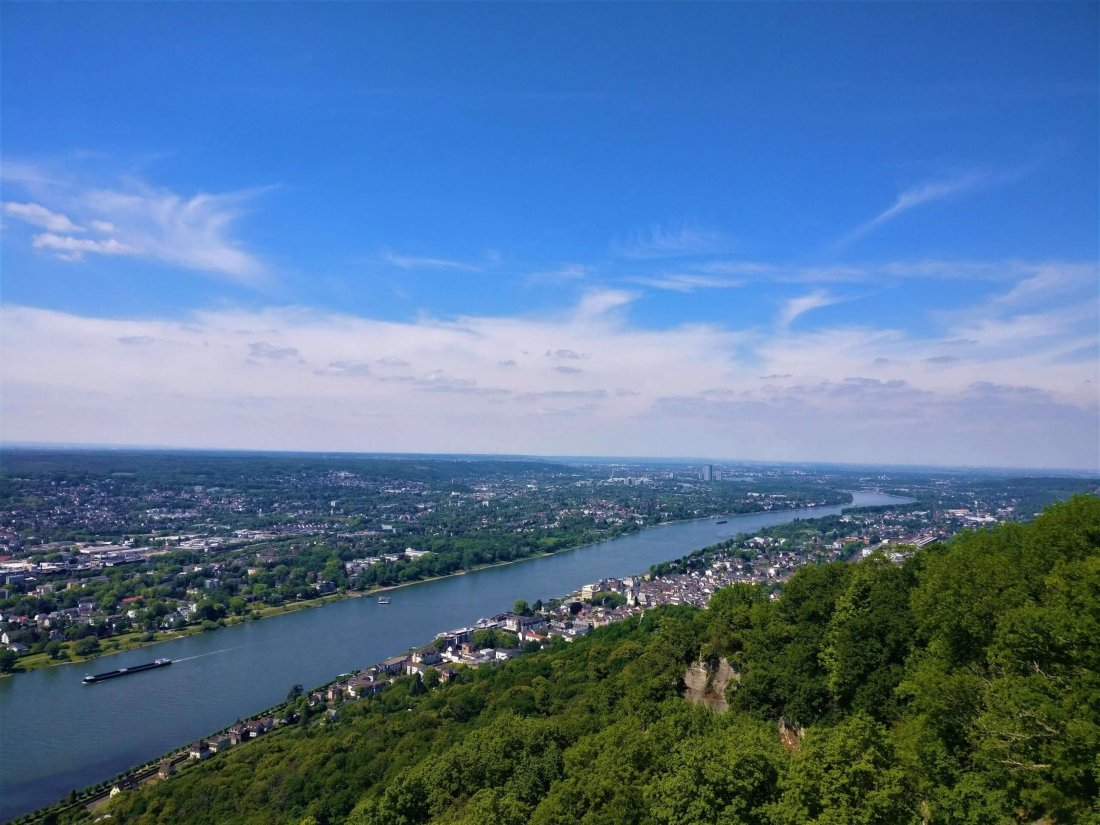View from Burg Drachenfels