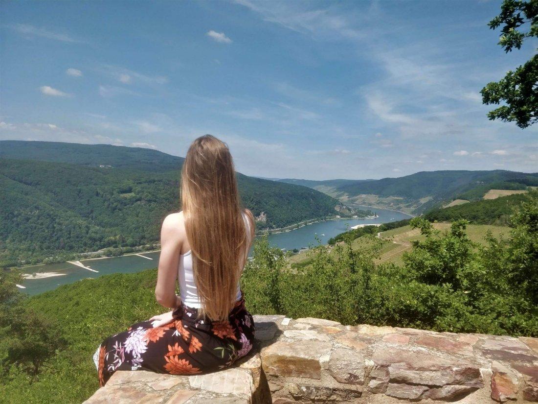 Viewpoint in Niederwald Landscape park, Rudesheim am Rein, Rhine Valley